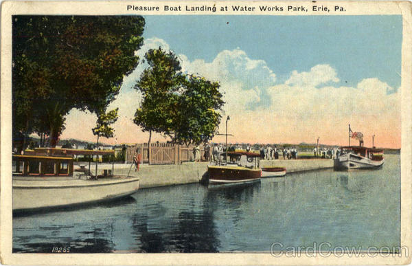 Pleasure Boat Landing at Water Works Park Erie Pennsylvania
