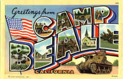 Greetings from Camp Beale - Large Letter Postcard