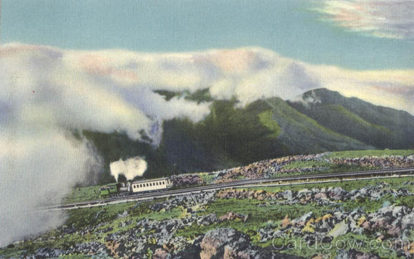 Famous Cog Railway Ascending Mt. Washington White Mountains New Hampshire