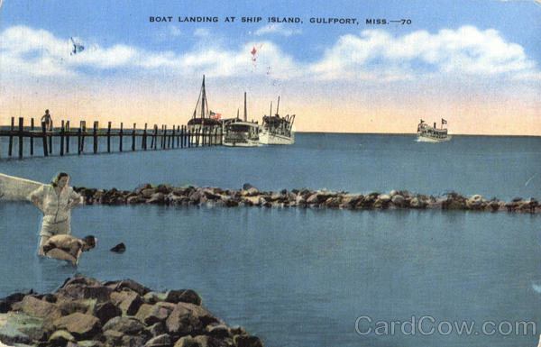 Boat Landing At Ship Island Gulfport Missouri