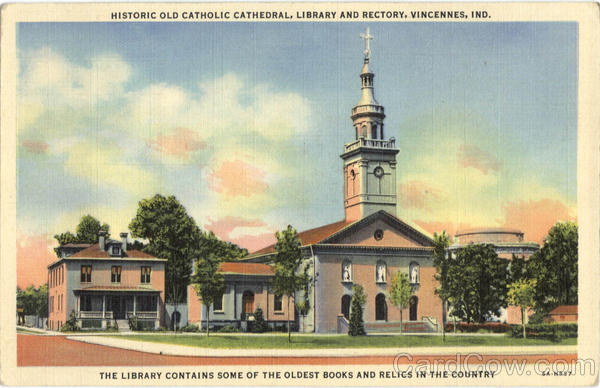 Historic Old Catholic Cathedral Library And Rectory Vincennes Indiana