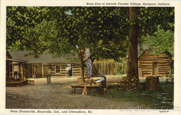 West End Of Lincoln Pioneer Village Rockport Indiana