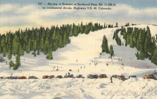 Skiing At Summit Of Berthoud Pass Colorado