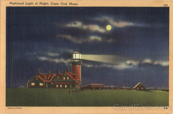 Highland Light At Night Cape Cod Massachusetts Lighthouses