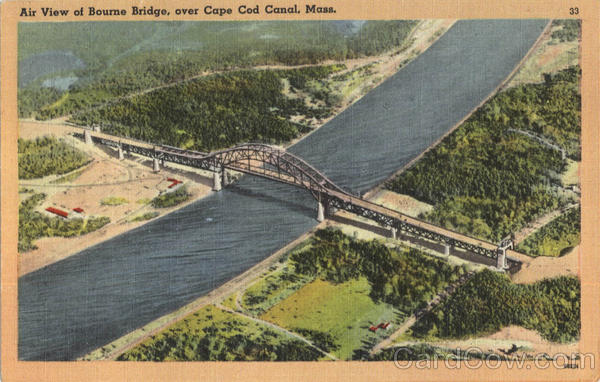 Air View Of Bourne Bridge Cape Cod Massachusetts