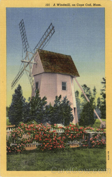 A Windmill Cape Cod Massachusetts Windmills