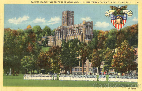 Cadets Marching To Parade Grounds West Point New York