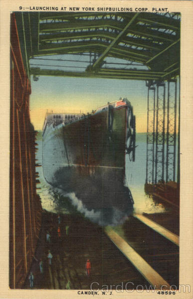 Launching At New York Shipbuilding Corp. Plant Camden New Jersey