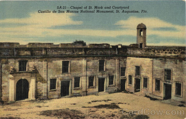 Chapel Of St. Mark And Courtyard Castillo De San Marcos National Monument St. Augustine Florida