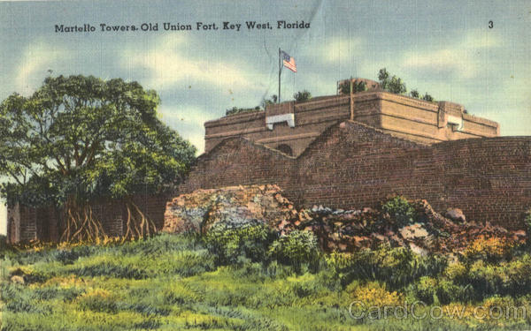 Martello Towers, Old Union Fort Key West Florida
