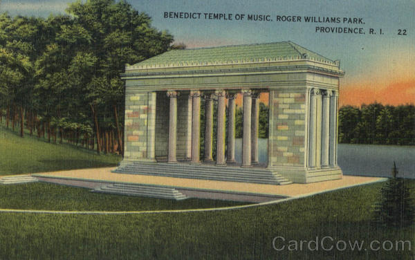 Benedict Temple Of Music, Roger Williams Park Providence Rhode Island