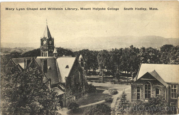 Mary Lyon Chapel And Williston Library, Mount Holyoke College South Hadley Massachusetts