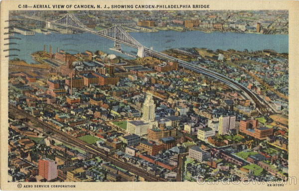 Aerial View Of Camden New Jersey