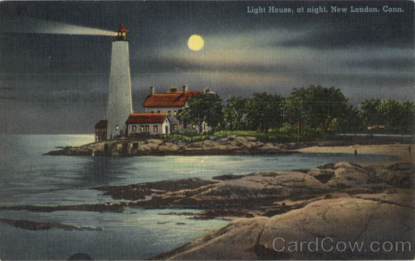 Light House At Night New London Connecticut Lighthouses