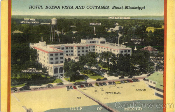 Hotel Buena Vista And Cottages Biloxi Mississippi