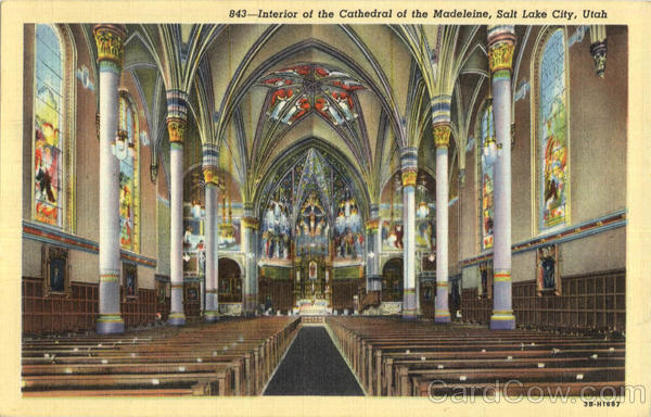Interior Of the Cathedral Of The Madeleine Salt Lake City Utah