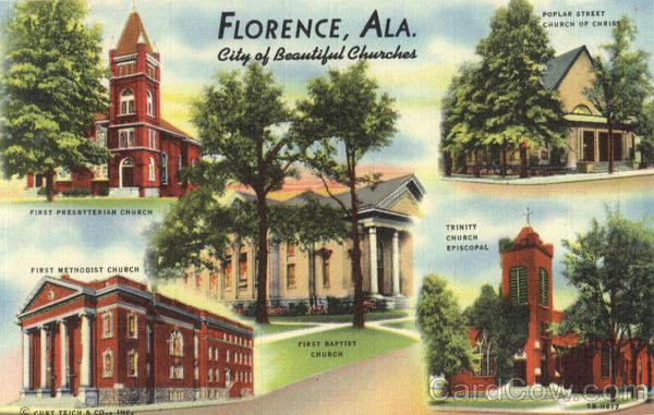 City Of Beautiful Churches Florence Alabama