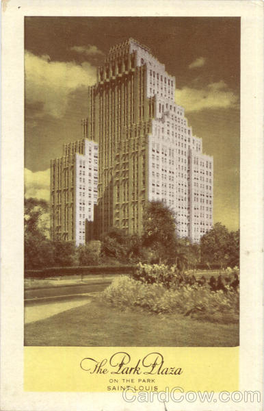The Park Plaza Hotel, Kingshighway And St. Louis Missouri
