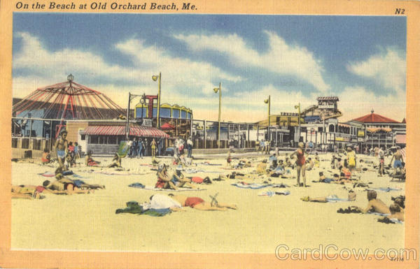 On The Beach At Old Orchard Beach Maine