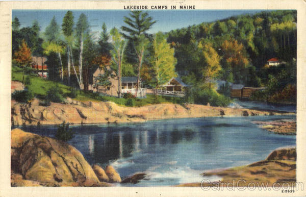 Lakeside Camps In Maine Scenic