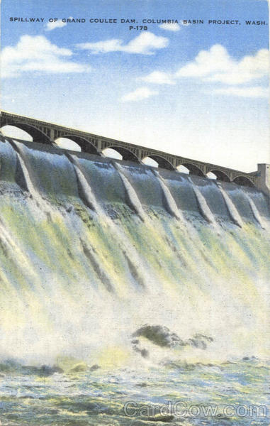 Spillway Of Grand Coulee Dam Washington