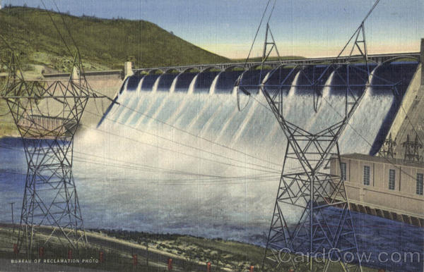 Power Transmission Towers Grand Coulee Dam Washington
