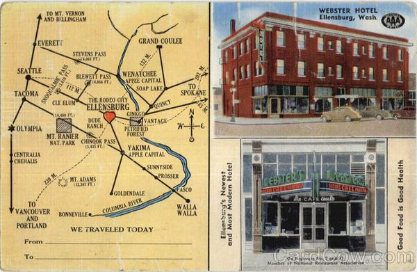 Webster Hotel Map Ellensburg Washington