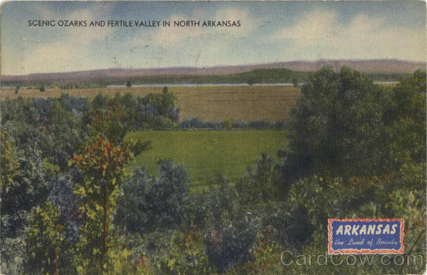 Scenic Ozarks And Fertile Valley In North Arkansas