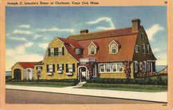 Joseph C. Lincoln's Home At Chatham Postcard