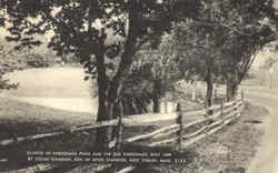 Glimpse Of Parsonage Pond And The Old Parsonage