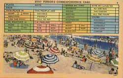 Busy Persons Correspondence Card Beach Scenes