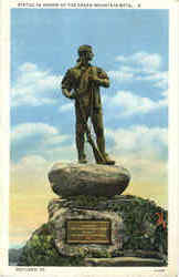 Statue In Honor Of The Green Mountain Boys