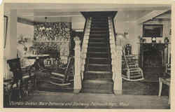Terrace Gables Main Entrance And Stairway Postcard