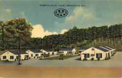 Roebuck Motel Court Postcard