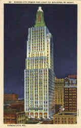 Kansas City Power And Light Co. Building By Night