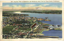 Airplane View Of Bremerton And Bremerton Navy Yard