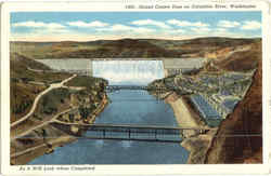 Grand Coulee Dam On Columbia River