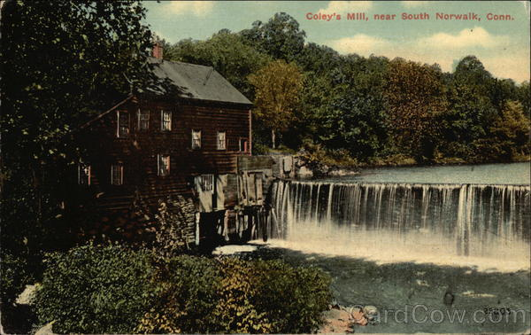 Coley's Mill & Waterfall South Norwalk Connecticut