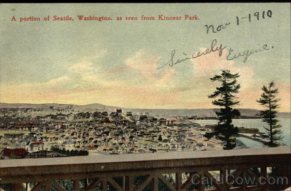 A portion of Seattle, Washington, as seen from Kinnear Park