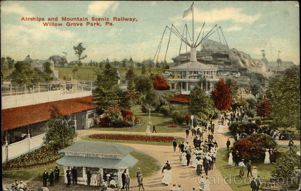 Airships and Mountain Scenic Railway Willow Grove Park Pennsylvania