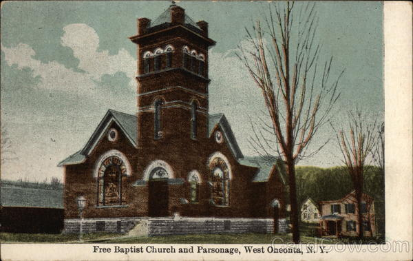 Free Baptist Church and Parsonage West Oneonta New York