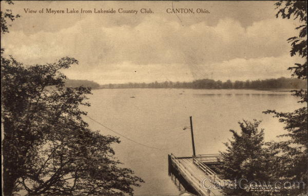 View of Meyers Lake from Lakeside Country Club Canton Ohio