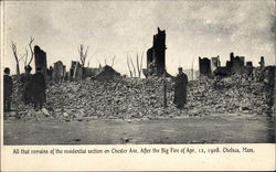 All That Remains of the Residential Section on Chester Ave. After the Big Fire of Apr. 12, 1908