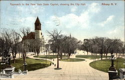 Approach to the New York State Capitol, showing the City Hall