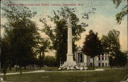 Soldiers' Monument and Public Library