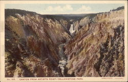 Canyon From Artist's Point, Yellowstone Park