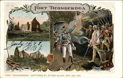 Fort Ticonderoga Captured by Ethan Allen Postcard