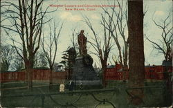 Wooster Square and Columbus Monument Postcard