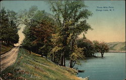 Three Mile Point, Otsego Lake Postcard