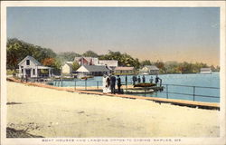 Boat Houses and Landing, opposite Casino Postcard